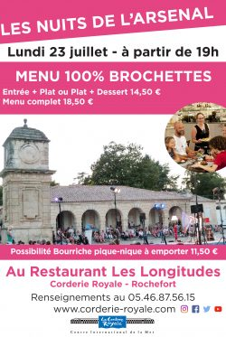 Affiche menu special 23 juillet