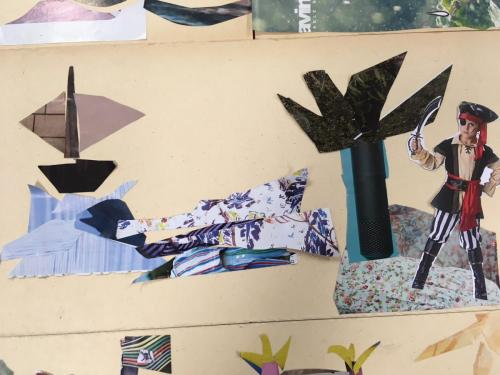 atelier collage pirate